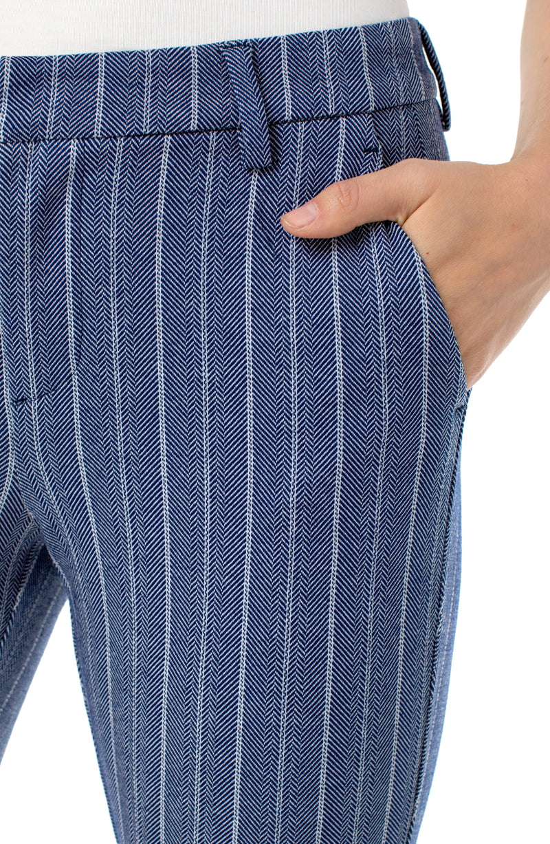 BLUE WHITE HERRINGBONE STRIPE