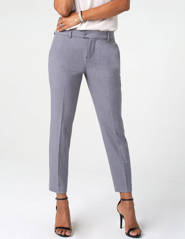 TROUSER WITH EXTENDED TAB AT WAISTBAND