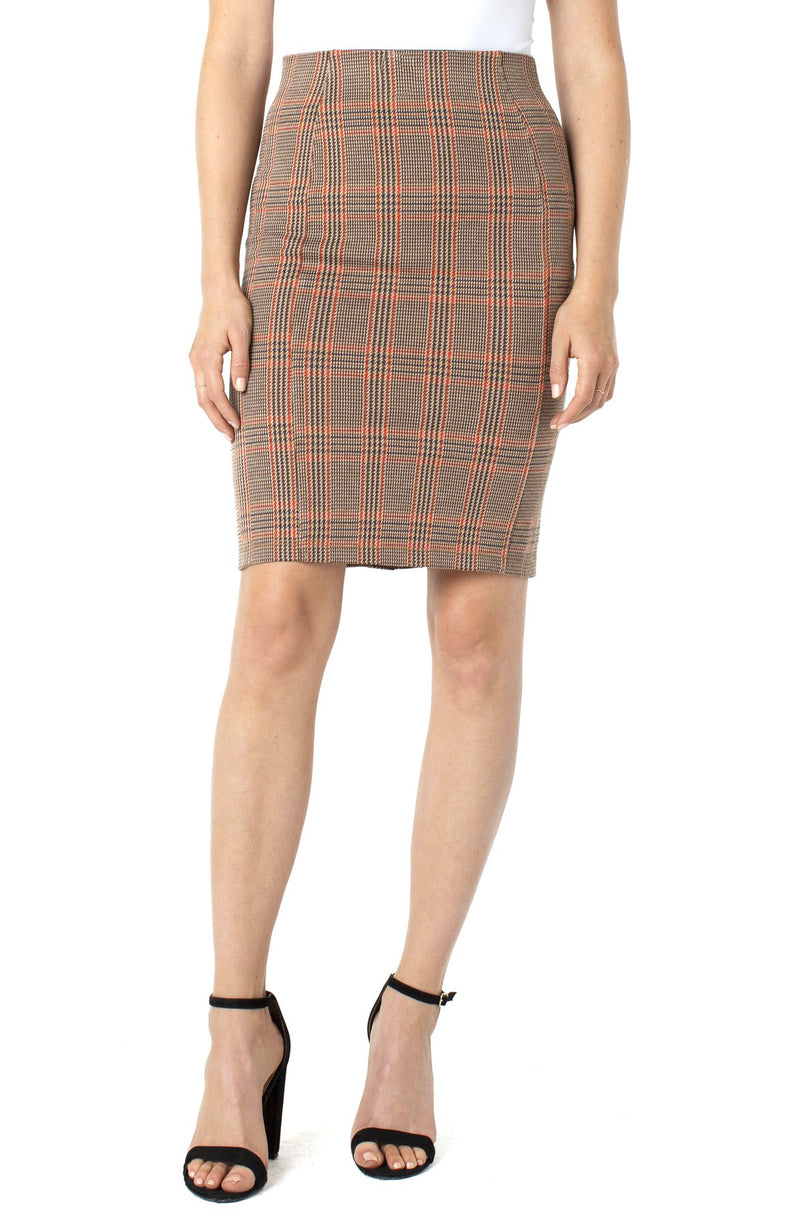 TAN CREAM RUST GLEN PLAID