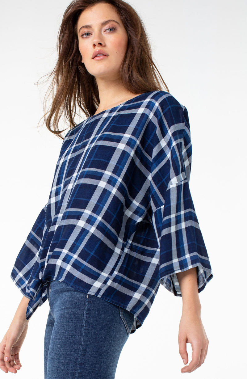 BLUE WHITE PLAID