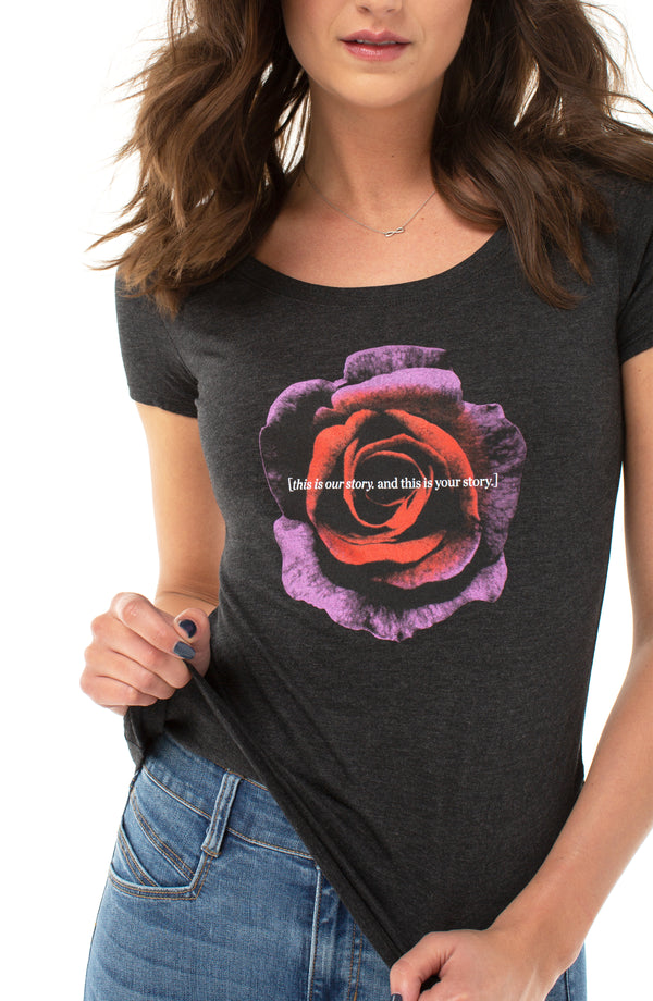 THIS IS YOUR STORY ROSE GRAPHIC TEE