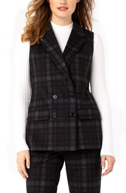 DOUBLE BREASTED CONTRAST VEST