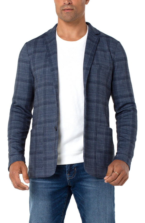 NAVY SLATE GREY TARTAN PLAID