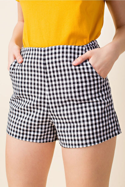Wild Honey gingham shorts