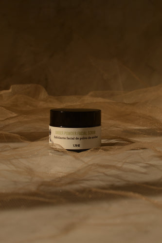 Amber powder facial scrub