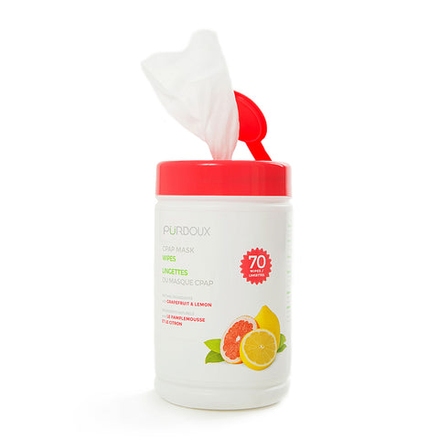 PÜRDOUX™ CPAP Mask Wipes with Citrus Scent - Canister