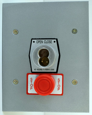 1KFSX-SLF Exterior Tamperproof Open-Close S Type Large Format Key Switch With Stop Button Flush Mount