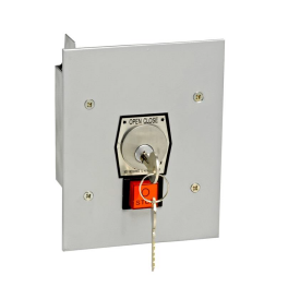1KFS-CC Nema 1 Interior Tamperproof Open-Close Changeable Core Cylinder Key Switch With Stop Button Flush Mount