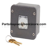 1KX Exterior Tamperproof Open-Close Key Switch Surface Mount Nema 4