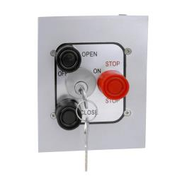 3BFLX-BC Lockout Flush Mount Control Station Or Equivalent Exterior Three Button With Best Cylinder
