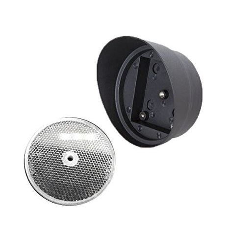 Garage Door Opener Safety Beam Plastic 3 in. EMX Gate Reflector & Protective Reflector Hood