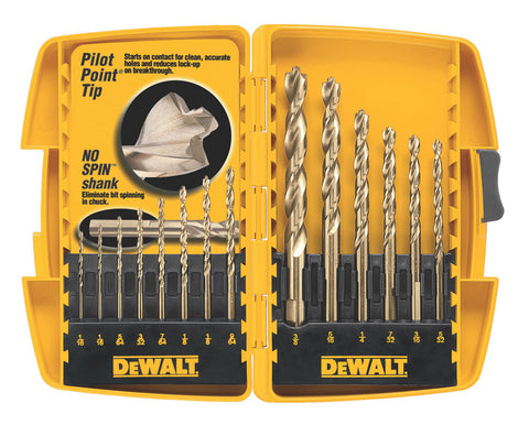 DeWalt 14PC Pilot Point® Drill Bit Set