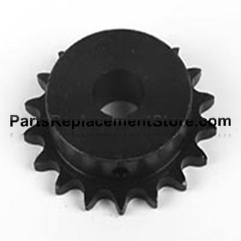 "Sprocket 18 tooth, 1"" bore, 1/4"" keyway 50B18"