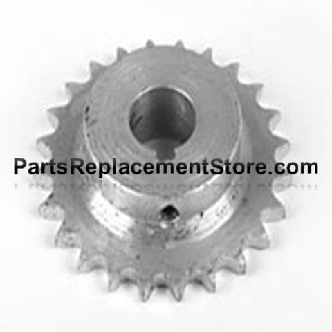"Sprocket 65 chain, 27 tooth, 3/4"" bore"