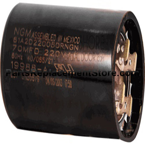Round Electrolytic Start 67-76 MFD-1/2 HP 220-250 VAC Capacitor