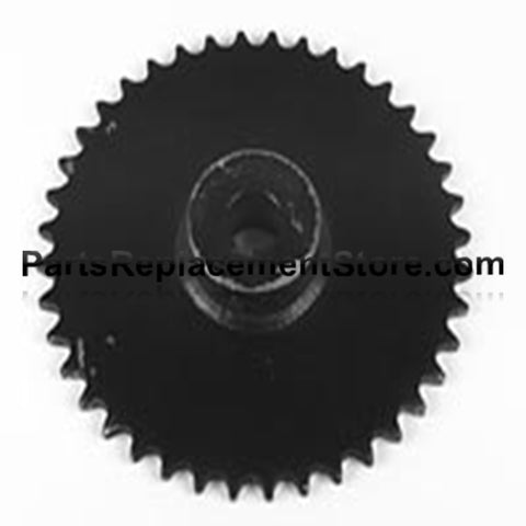 "Sprocket 36 tooth, 1 1/4"" bore, 1/4"" keyway"
