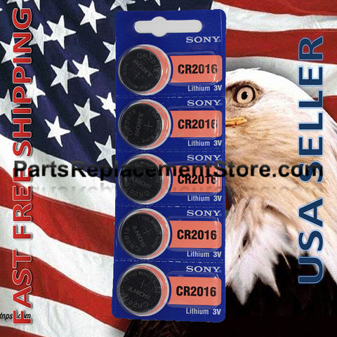 3V Lithium CR2016 Batteries (5)