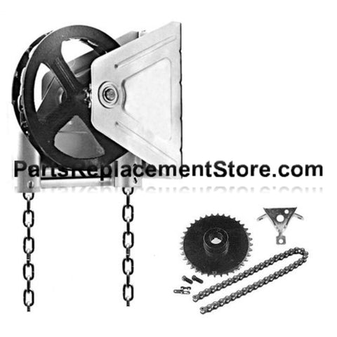"2000R Reduced Drive Chain Hoist, 1"" Shaft"