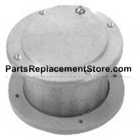 5 in. X 2 in. GARAGE DOOR NON LATCHING EXHAUST VENT