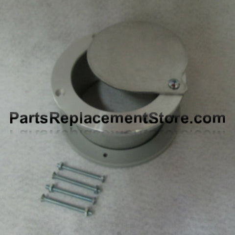 4 in. X 2 in. GARAGE DOOR NON LATCHING EXHAUST VENT