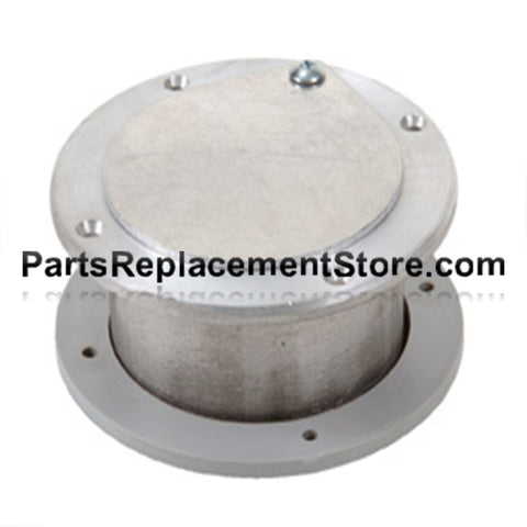 4 in. X 1/4 in. GARAGE DOOR NON LATCHING EXHAUST VENT