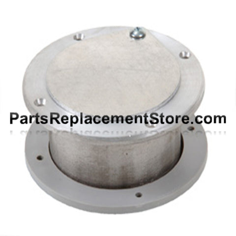 4 in. X 3 in. GARAGE DOOR NON LATCHING EXHAUST VENT