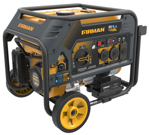 Firman Power Equipment Hybrid Series H03651 3650/4550 Watt Dual Fuel Generator w/Electric Start