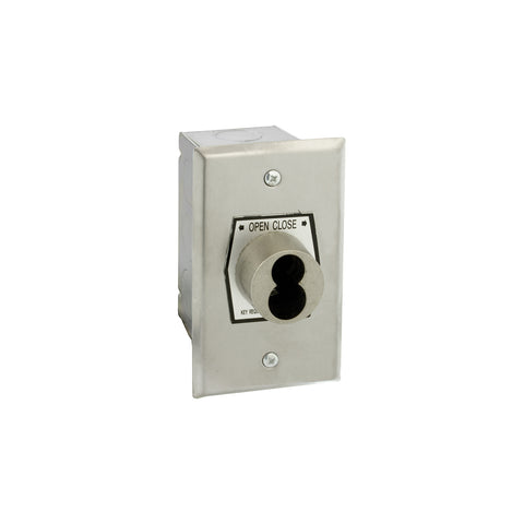 HBFX-SLF Exterior Open-Close S-Type Large Format Key Switch In Single Gang Back Box Flush Mount