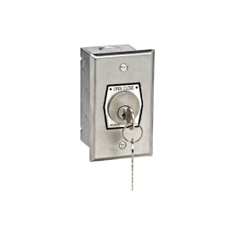 HBF-CC Nema 1 Interior Open-Close Changeable Core Cylinder Key Switch In Single Gang Back Box Flush Mount