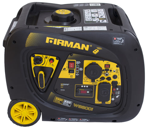 Firman Power Equipment W03083 3000/3300 Watt portable Gas Inverter with Electric and Remote Start