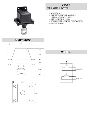 Rotating Pull Switch CP-2B