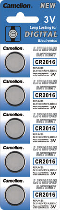 3V Lithium Batteries #2016, 5 pack