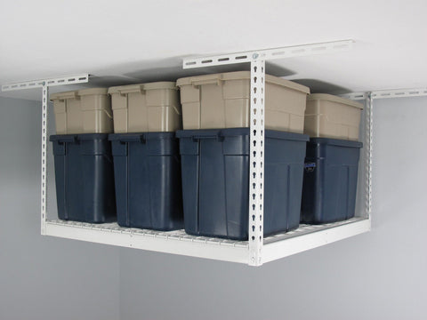 "SafeRacks 4'x4' Overhead Storage Rack 18"" to 33"" drop"