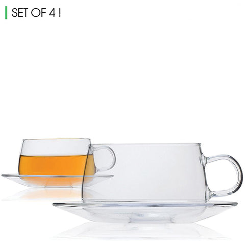 Orbit Cup & Saucer (Set of 4)