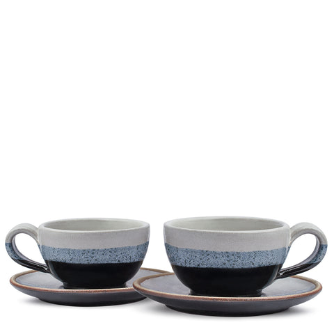 Indigo Cup & Saucer (Set of 2)