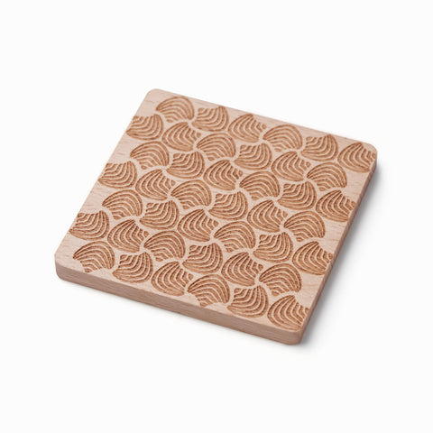 Floral Wooden Coasters (Set of 2)