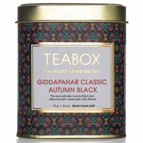 Giddapahar Classic Autumn Black Tea Tin