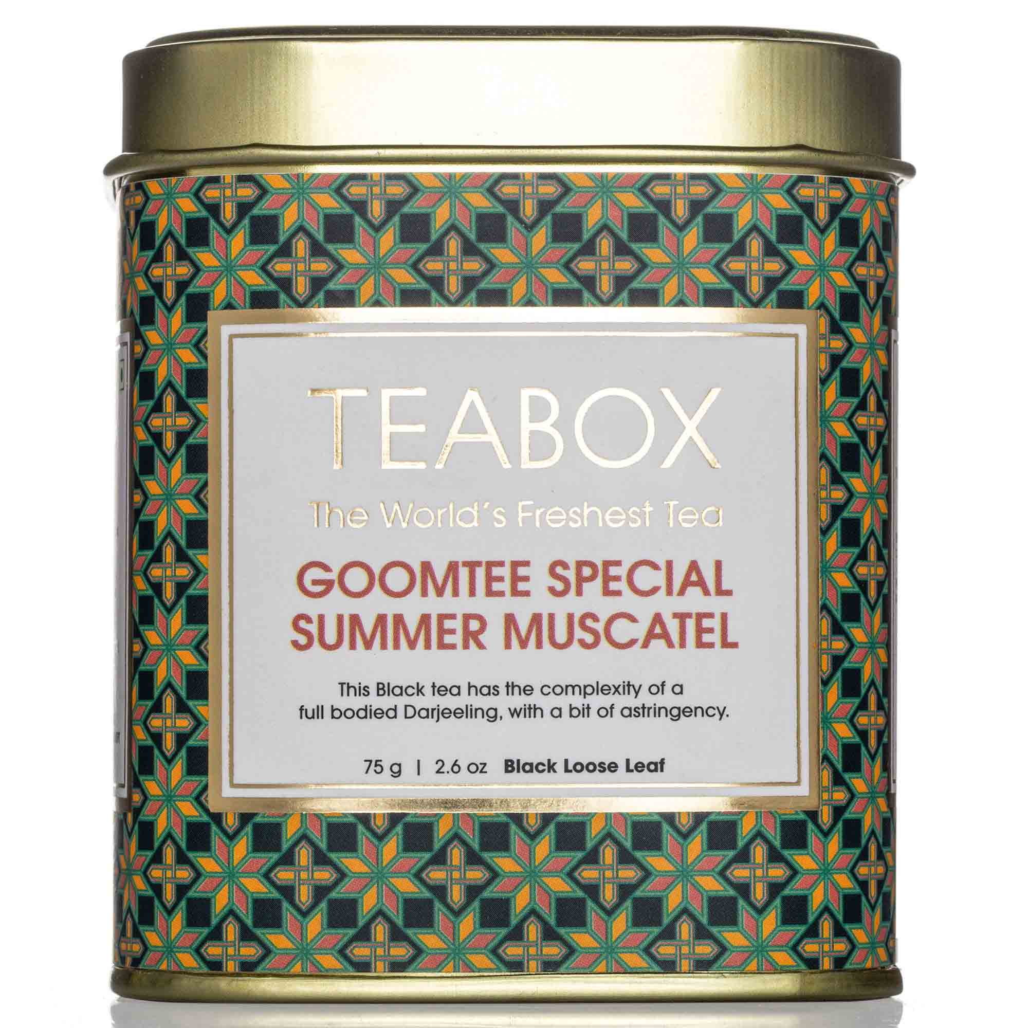 Goomtee Special Summer Muscatel Black Tea Tin