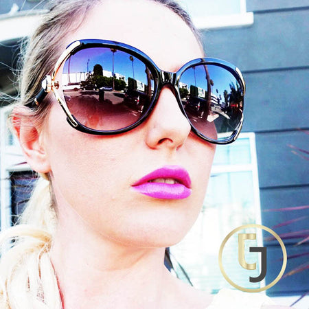 """The only Girl in the World"" Black Curl Sunglasses"