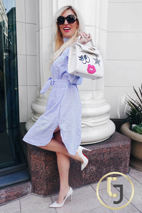 """ Beverly Hills Babe"" Light Blue Day Dress"