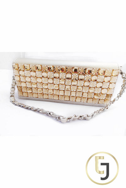 """Girls Best Friend"" Gold Clutch"