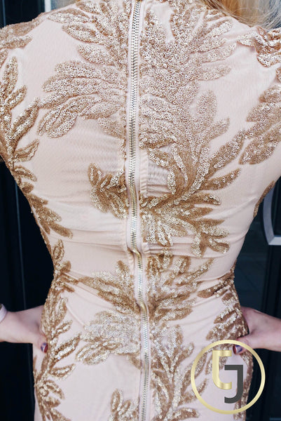 """Endlessly Alluring Golden Girl"" Dress"