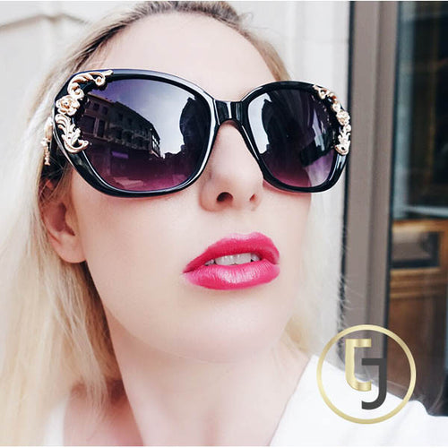 """Rule the world"" Golden Sunglasses"