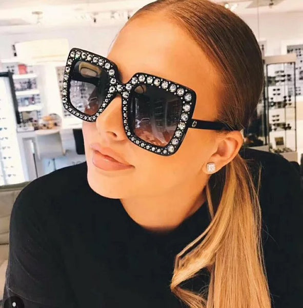 Julia Jolie Beverly Hills Sunglasses - Exclusive Edition- Shine like a Diamond- Black