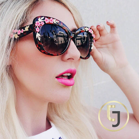 """Treat me like a Movie Star"" Rose colored Sunglasses"