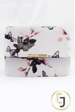 Julia Jolie Signature Clutch - White Butterfly
