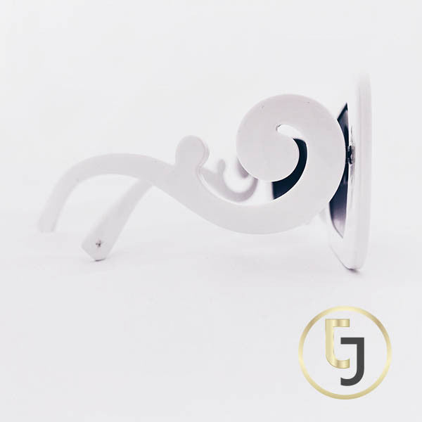 """Retro Chic meets Hollywood""  White Curl Sunglasses"