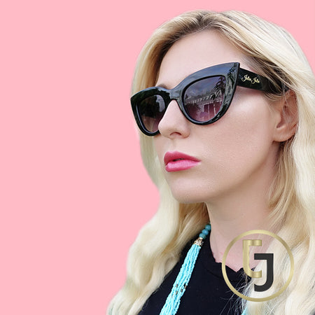 """Retro Chick meets Hollywood""  Brown Curl Sunglasses"