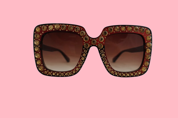 Julia Jolie Beverly Hills Sunglasses- Exclusive Edition- Shine like a Diamond! Brown