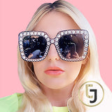 Julia Jolie Beverly Hills Sunglasses- Exclusive Edition- Shine like a Diamond! Grey